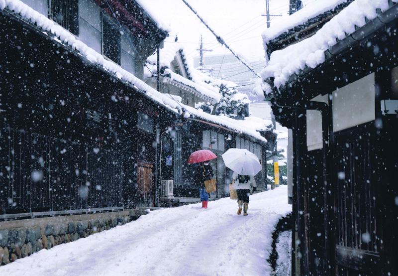 阪九フェリー賞 「雪の日」高野街道 三日市宿付近