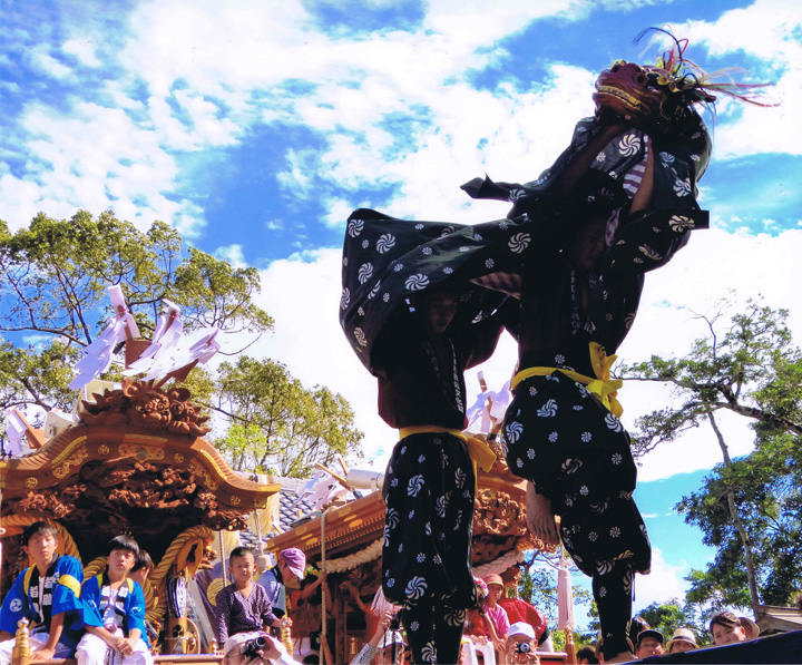 酒蔵にしおか賞 「望郷「村祭り」」高向神社