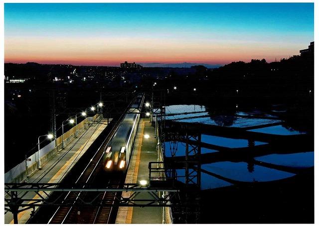 南海電気鉄道賞 「美加の台駅のブルーモーメント」美加の台