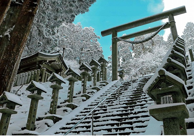 富士フイルム賞 「金剛山、雪の石段」金剛山
