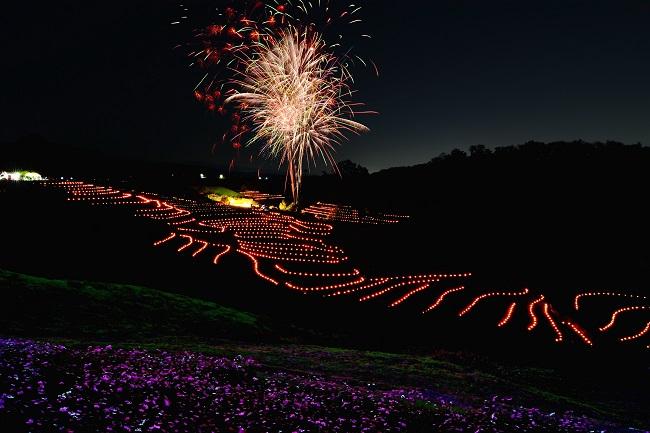 大阪芸術大学賞 「棚田の灯り2018」下赤阪の棚田