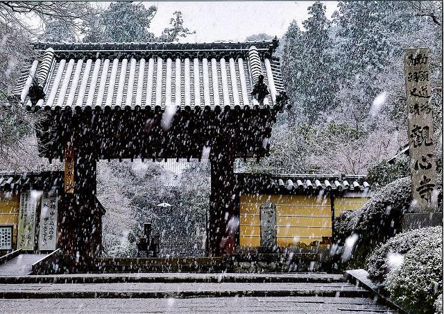 南海電気鉄道賞 雪の山門観心寺