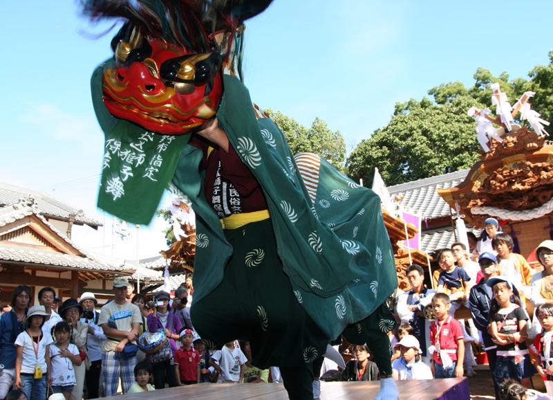 関西サイクルスポーツセンター賞 「獅子舞」高向神社