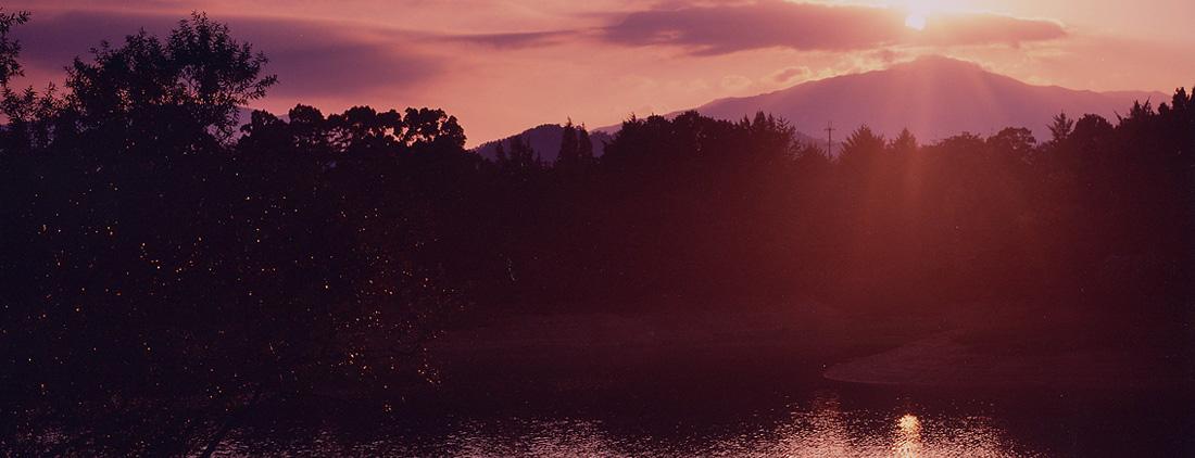 寺ヶ池の朝陽